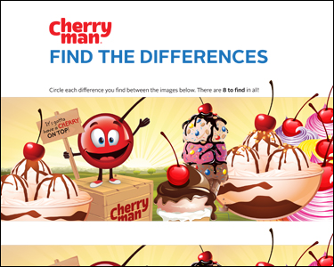 CherryMan find the differences activity play game