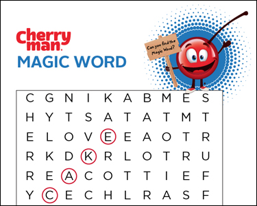 CherryMan wonderword magicwork teleword activity play page