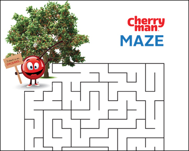 CherryMan maze activity play page