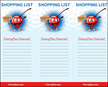 CherryMan shopping list printable graphic