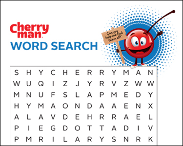 CherryMan word search activity play page