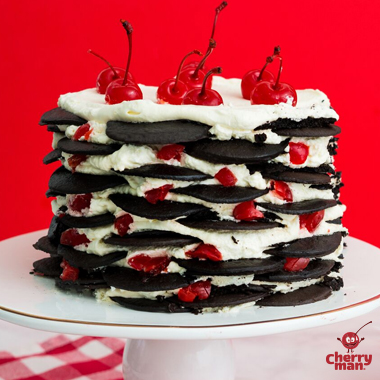 Black Forest Icebox Cake with Cherries