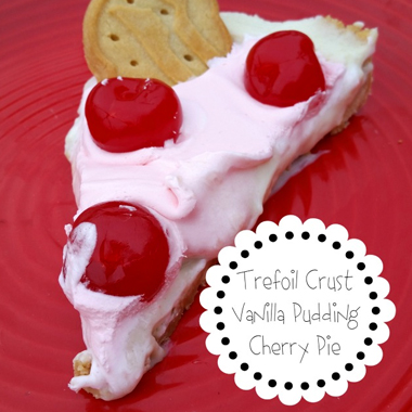Trefoil Crusted Vanilla Pudding Cherry Pie | CherryMan